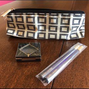 Estée Lauder Cosmetic Bag, Brushes & Circa Shadow